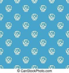 Paintball mask pattern seamless blue