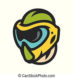 Paintball mask sign