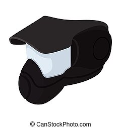 Paintball mask with goggles cartoon