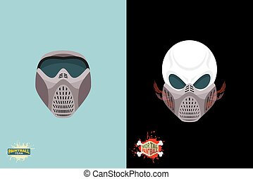 paintball Mortal mask.