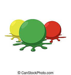 paintball, palle, schizzi, icona