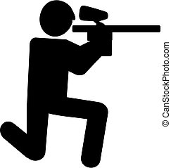 Paintball Pictogram