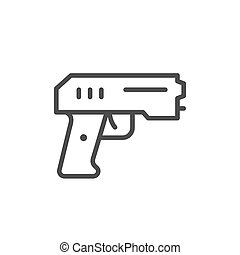 Paintball pistol line outline icon