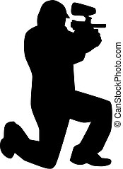 Paintball Player silhouette