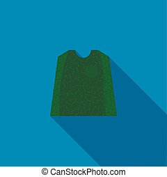 Paintball protection vest icon, flat style