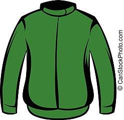 Paintball protective jacket icon cartoon