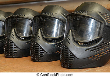Paintball protective mask - paintball extreme sport...