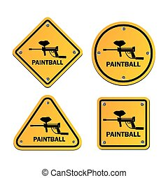 paintball signs