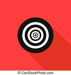 Paintball target icon, flat style