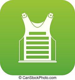 Paintball vest icon digital green
