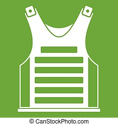 Paintball vest icon green