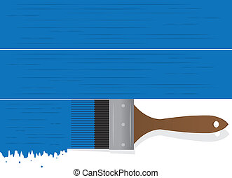 Paintbrush Drip Blue