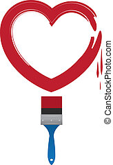 Paintbrush Heart