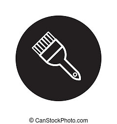 Paintbrush icon vector - image of Paintbrush icon vector...