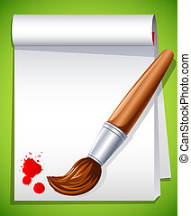 Paintbrush - Vector illustration - paintbrush on the drawing...