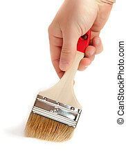 paintbrush in hand