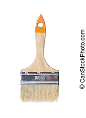 Paintbrush isolated - Paintbrush studio isolated on a white...