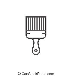 Paintbrush line icon.