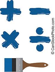 Paintbrush Math Symbols
