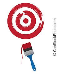 Paintbrush Target