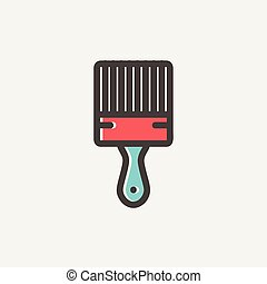 Paintbrush thin line icon