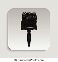 Paintbrush. Vector icon.