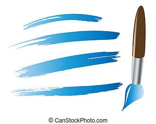 Paintbrush with brush stokes illustration
