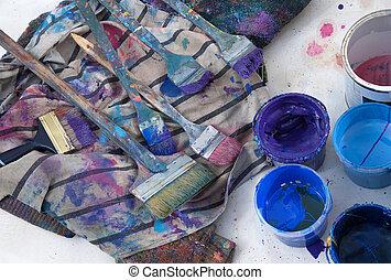 Paintbrushes, 工作室,  painter's