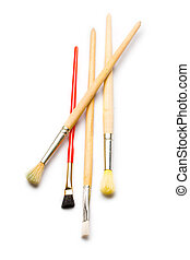 Paintbrushes isolated on white