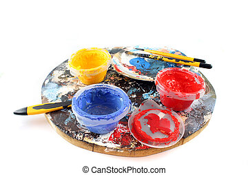 PaintBrushes on a white Background - Paint brushes and...