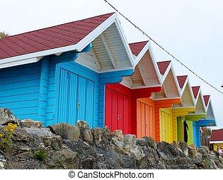 painted beach hut