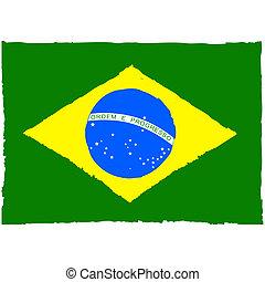 Painted Brazil flag