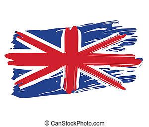 Painted British Flag - Painted British national flag...