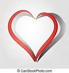 Painted brush heart shape.