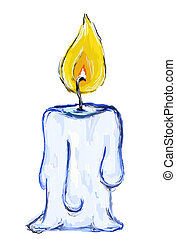 candle - painted candle