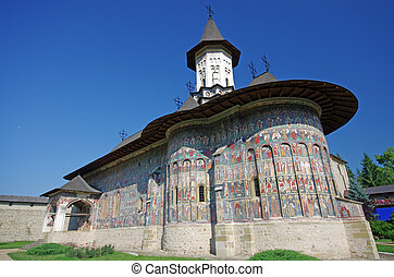 Painted church in Moldavia from Unesco Heritage: Sucevita...