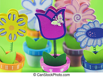 Painted decorative flowers