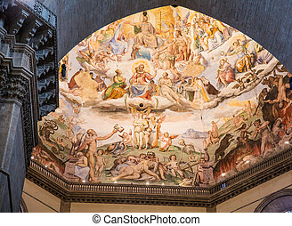 Painted Domed Ceiling in Chapel at Florence