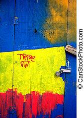 Painted Door Abstract