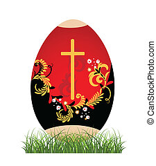 Painted Easter egg