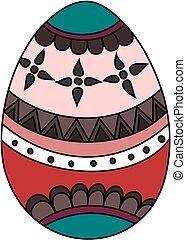 Painted Easter egg. Vector illustration.