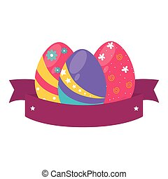 Painted easter eggs card