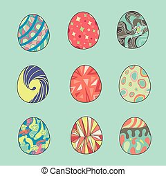painted Easter eggs set