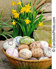 Easter eggs - painted Easter eggs