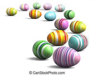 Painted eggs at Easter