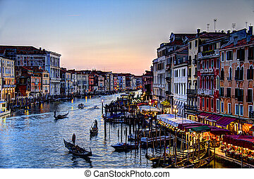 Painted Evening on the Grand Canal in HDR 2
