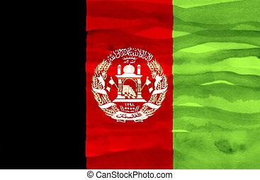 Painted flag of Afghanistan