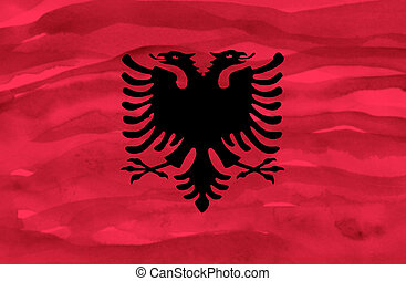 Painted flag of Albania