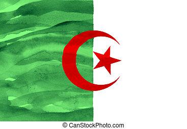Painted flag of Algeria