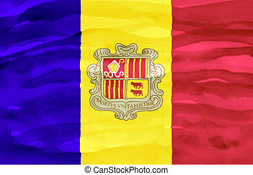Painted flag of Andorra